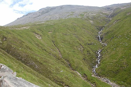 View to Red Burn on the way up to the Half Way Lochan