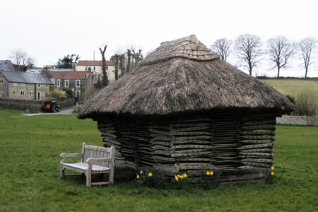 Priddy village - hurdle shelter