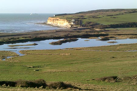 Looking towards Seaford on approach to the Seven Sisters