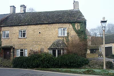 A typical Cotswold cottage in Bourton-on-the-Water