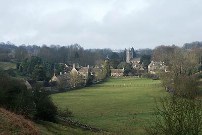 The village of Naunton is typical of many in the Cotswolds