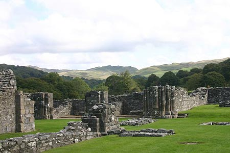The ruins of the ancient Abbey of Strata Florida