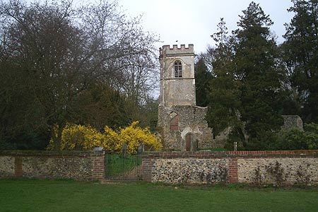 The old church at Ayot St Lawrence