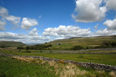 View of Mallerstang Edge from the valley