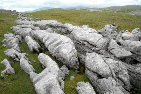 Fell End Clouds - interesting limestone shapes