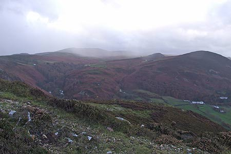 The Distant Slopes of The Carneddau from Alltwen