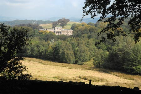 Lyme Hall from the Gritstone Trail