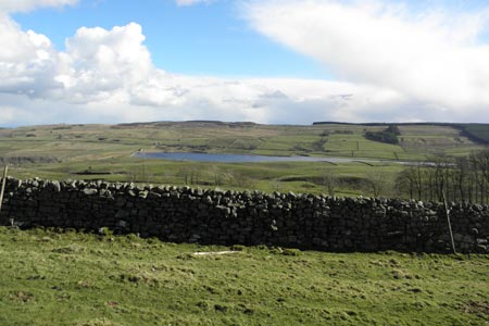 Looking down over Grassholme Reservoir in Lunedale