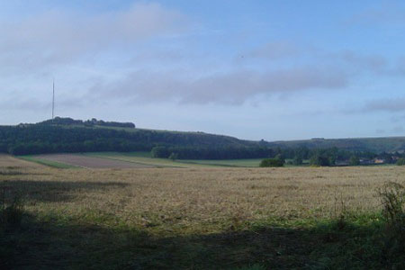 Photo from the walk - Hannington from Kingsclere