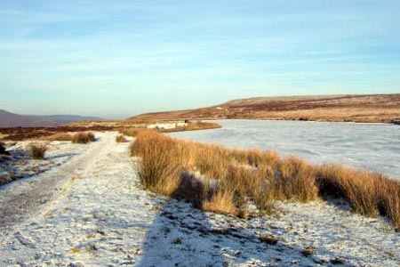 Keepers Pond in winter, above Blaenavon
