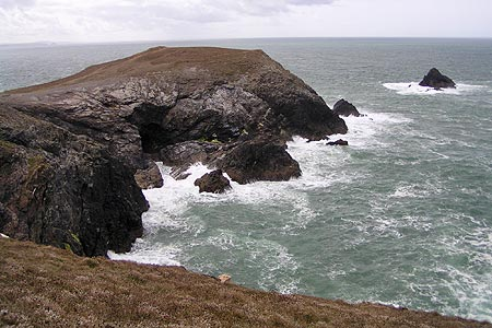 Stinking Cove and Dinas Head