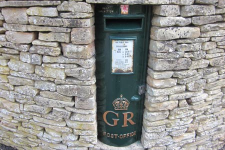 Old time post box at Tuckingmill