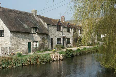 Cottages beside the stream in Sutton Poyntz