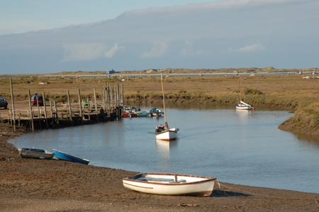 Photo from the walk - Morston Salt Marshes from Morston Quay