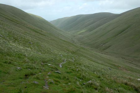 The ascent to the Calf from lonely Bowderdale