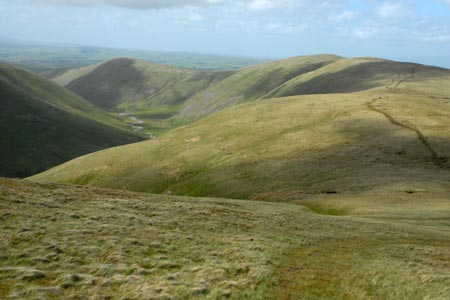 Looking to West Fell during descent from Hazelgill Knott