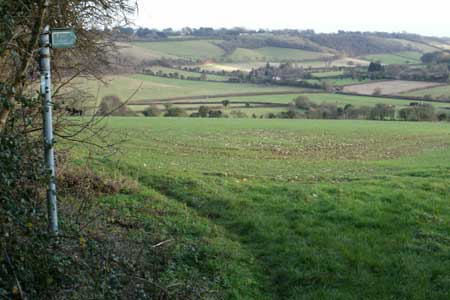 Looking towards the village of Radnage in the Chilterns