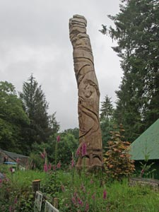 Totem pole at the visitors centre.