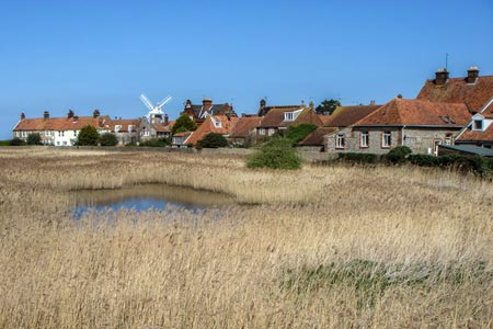 Photo from the walk - Cley next the Sea from Salthouse