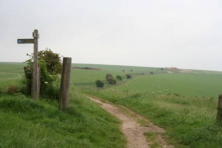 Heading East along the South Downs Way near Chantry Hill
