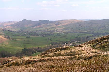 Lose Hill and Edale on descent from Grindslow Knoll
