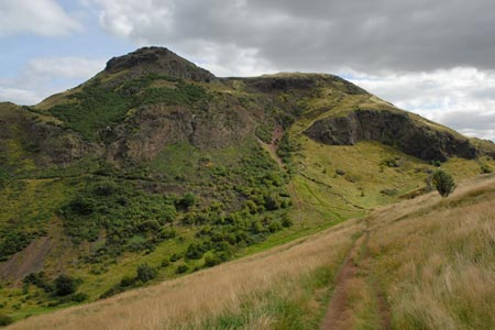 Edinburgh - view of Arthurs Seat from Salisbury Crags