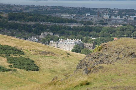 Edinburgh - Holyrood House and the Firth of Forth