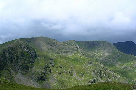 Dollywagon Pike, Nethermost Pike & Helvellyn from Cofa Pike