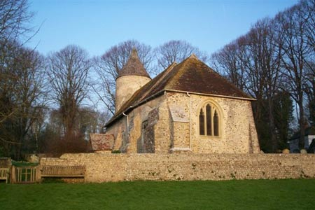 Southease, the church with an unusual round tower