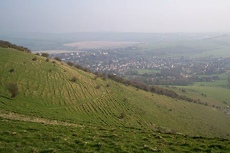 View to Weald & Kingston from the Downs