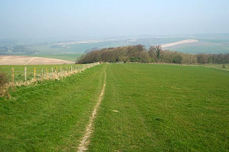 Path leaving the Downs near Falmer