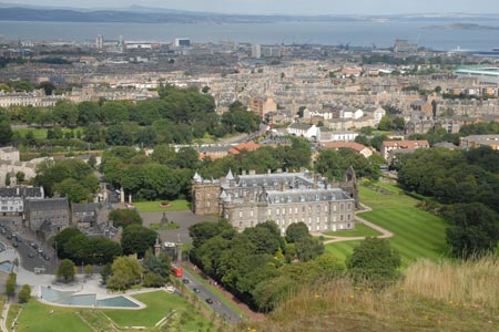 Palace of Holyrood House from Salisbury Crags