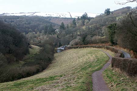 The path from the National Park car park to Tarr Steps