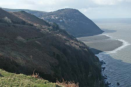 Nearing Countisbury a view to Lynmouth and Lynton