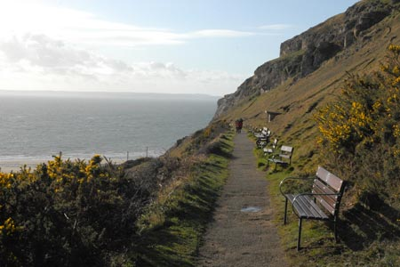 Zigzag path to summit of Great Orme