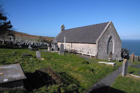 The small church of St. Tudno on the Great Orme