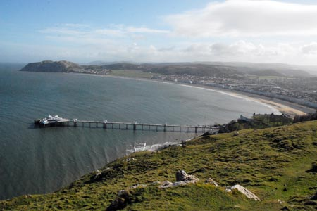 View across the Pier and Bay at Llandudno