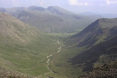 Photo from the walk - Scafell from Wasdale Head