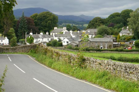 Near Sawrey - a starting point for a walk on Claife Heights