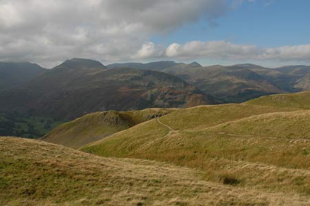 Helvellyn and Eastern Fells from the Angletarn Pikes
