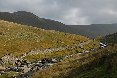 Hayeswater Gill tumbles down to Hartsop