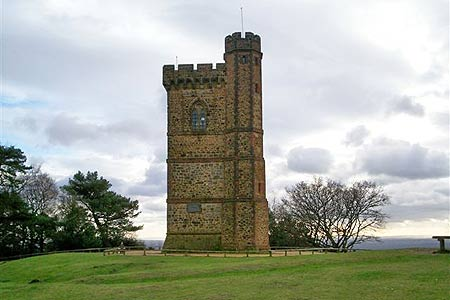 View of northern flank of Leith Hill Tower