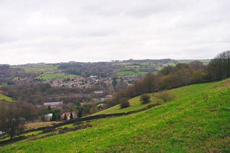 Photo from the walk - Cocking Tor from the outskirts of Matlock