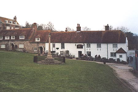 Village green and Tiger Inn, East Dean