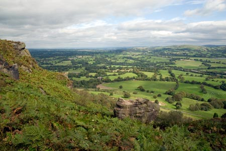 The view across Cheshire from the Cloud
