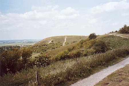 Dunstable Downs looking towards the Five Knolls