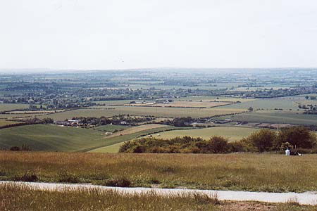 Dunstable Downs looking east into the Vale of Aylesbury