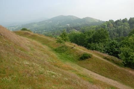 Looking north from the flanks of the Herefordshire Beacon