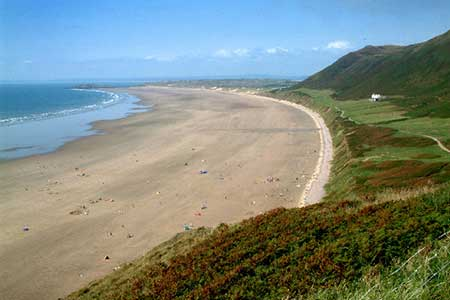 Photo from the walk - Harding's Down & Rhossili Down from Rhossili