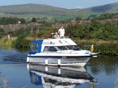 Canal cruiser at Auchinstarry on the Forth & Clyde canal